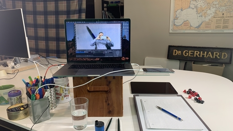 Thumbnail for entry David Gerhard's Remote Teaching Setup - 1